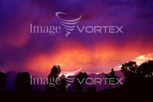 Sunset / sunrise royalty free stock image #131017201