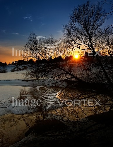 Sunset / sunrise royalty free stock image #217909596