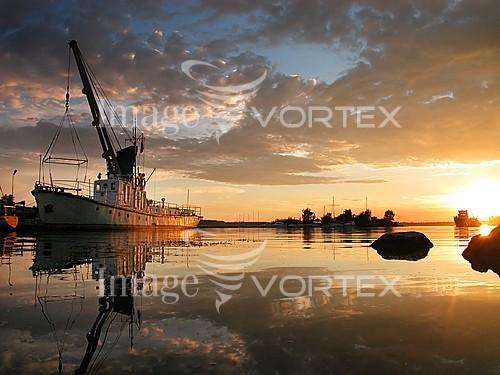 Sunset / sunrise royalty free stock image #543425026
