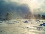 Snowbank royalty free stock image - click to enlarge