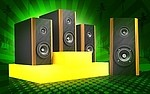Loudspeakers royalty free stock image - click to enlarge