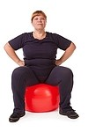 Overweight royalty free stock image - click to enlarge