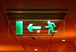 Emergency / exit royalty free stock image - click to enlarge